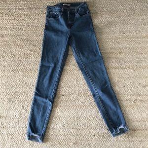 Levi super high rise jeans